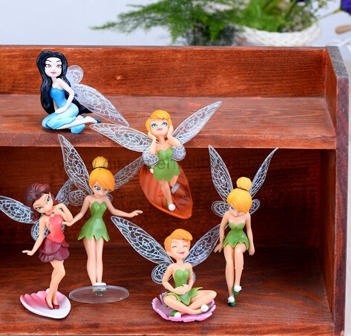 Cute lovely Accessory Toy Gift !! Garden Tiny People Terrarium Miniature 1 set of 6 Fairies mini fairy angel dancing figurines