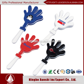 Top sale football game noise makers plastic mini hand clapper