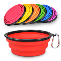 Free Sample Custom Foldable Silicone Pet Water Bowl Collapsible Travel Dog Bowl