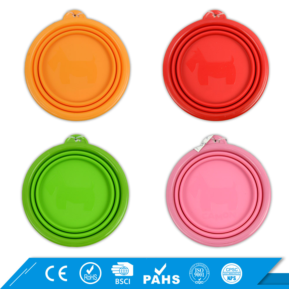 Highest Level Dogs Drinking Silicone collapsible water bowl