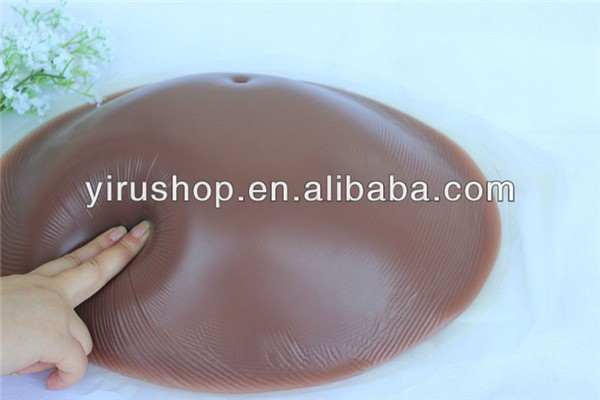 Hot selling silicone fake belly 1500g soft artificial pregnant belly for women free shipping