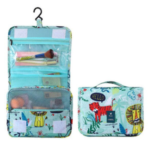 Tiger design cosmetics makeup beautiful cosmetic container storage bag organizer hanging toiletry bag travel