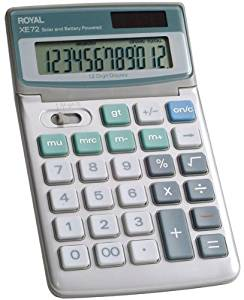 Royal - 12-Digit Desktop Solar Calculator 2 pcs sku# 391145MA