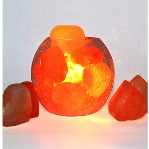 wholesale himalayan night light lamp salt with wooden base