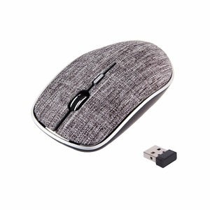 2018 OEM 2.4ghz Computer USB Optical Ergonomic Cordless Wireless Mouse With Soft Fabric Cover,Portable Pc Custom Magic Mouse