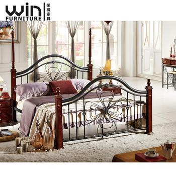 Foshan Wooden Metal Bed Frame Design