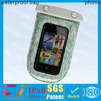 Cell phone clear pvc waterproof gift bag with string