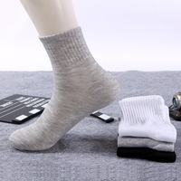 Hot selling wholesale cotton Pure color men's thin socks business man cotton tube socks
