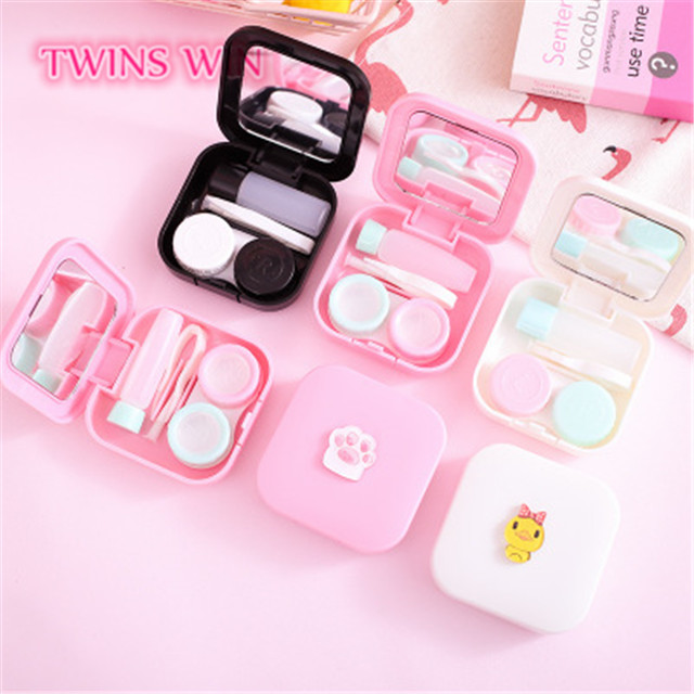 2019 promotional gift girl the most popular luxury contact lens case glasses box 216