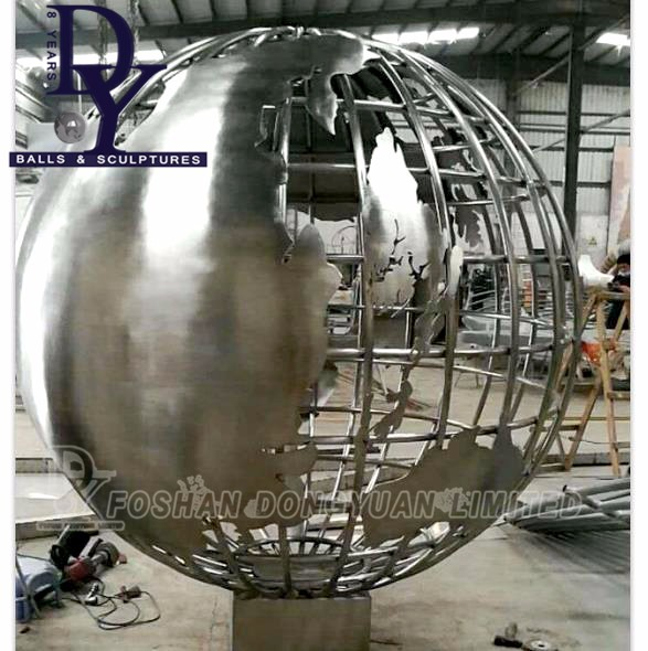 Mirror Ball Smooth, Giant Holiday Stainless Steel Ball for Shopping Mall Decoration