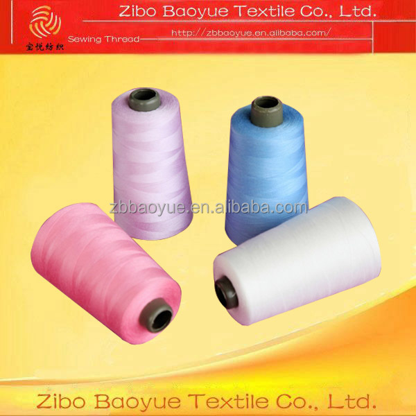 100% spun polyester cheap sewing thread