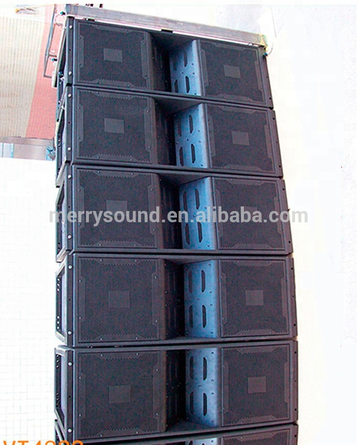 dual 12inch line array pro audio speaker, sound system for outdoor performance (VT4888)