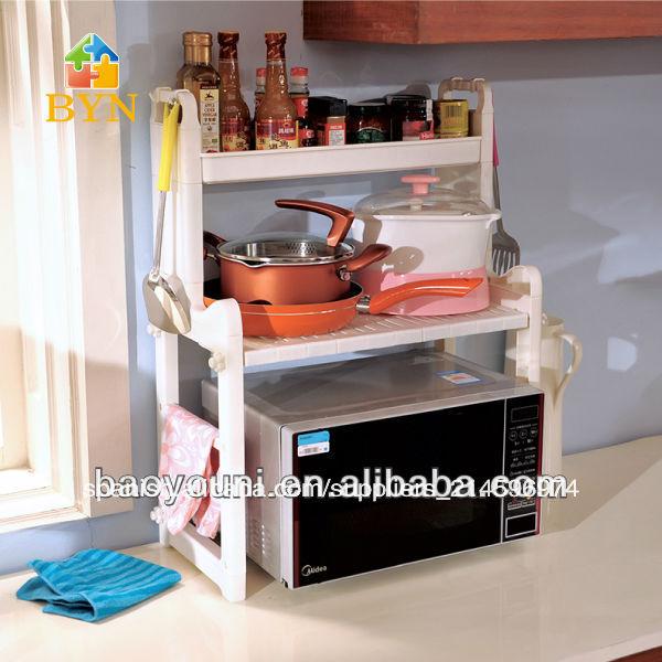 patentado baoyouni pp de plstico estante estante de la cocina para microondas botella spice rack dq