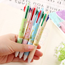 Japanese 4 color in1 ball pen colorful refill cute ballpoint pen