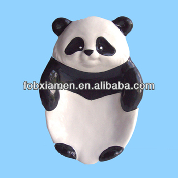 Wholesale Popular Ceramic Panda Grab Bar Soap Dish