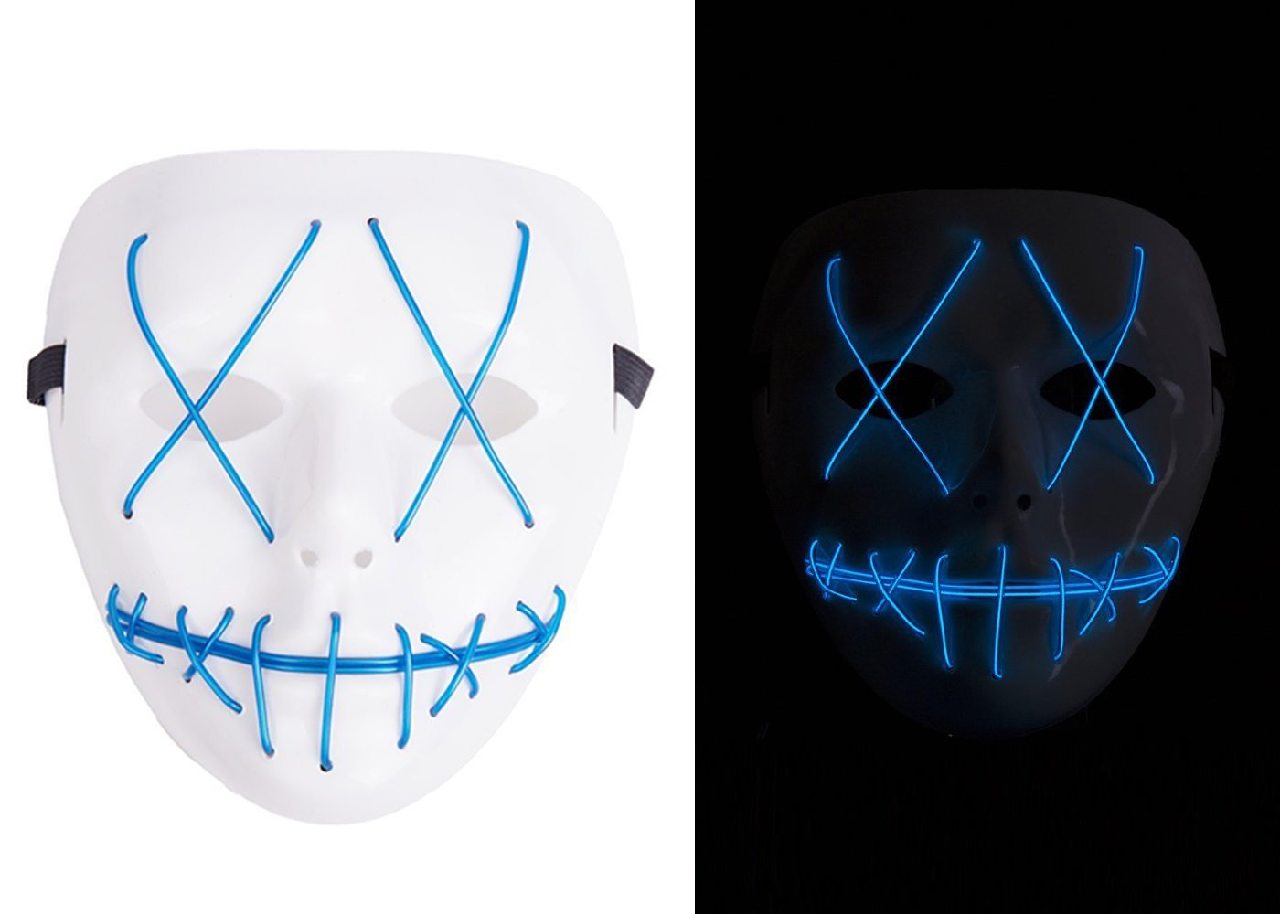 Buy NIGHT-GRING Frightening EL Wire Halloween Cosplay Led Mask Light ...