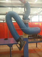 Industrial fume tracking arm/flexible smoke capture hood/dust extraction hose
