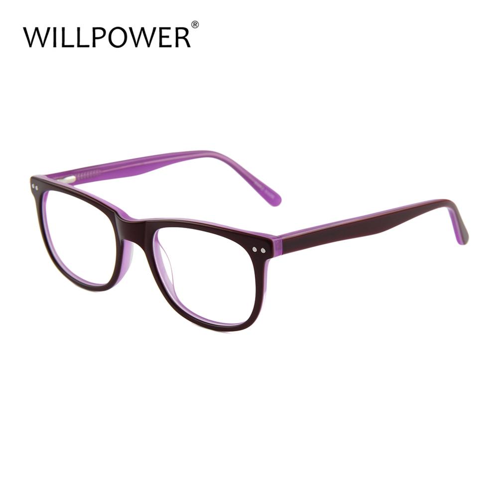 Romantic Optical Eye Glasses Frames Nice Eyeglasses Black Purple Ce ...