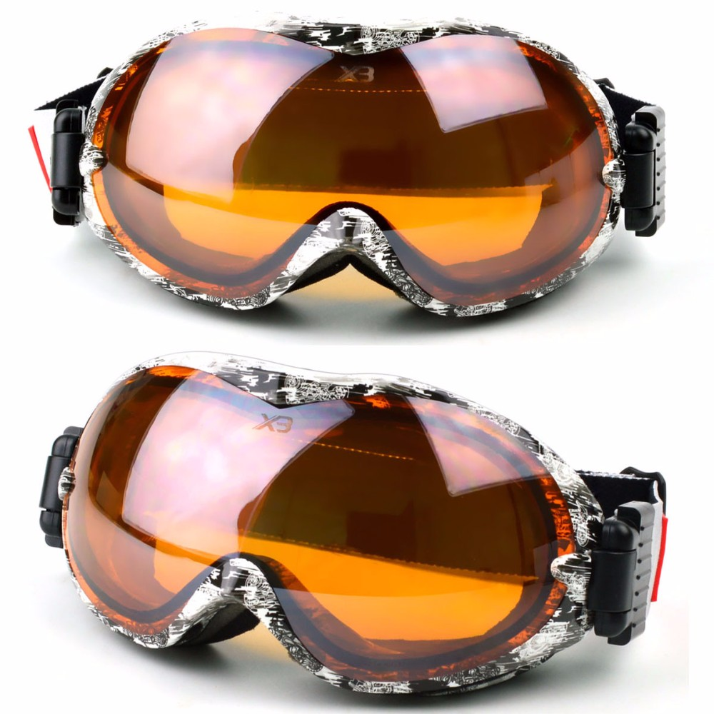 Skiing Eyewear Sports & Entertainment Beautiful High Quality Double Glare Brightening Lens Ski Goggles Professional Polarized Ski Glasses Multifunctional Lenses For Skiing Mask Soft And Antislippery