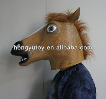 Long History Factory Horse Mask For Sale (White Brown Black))