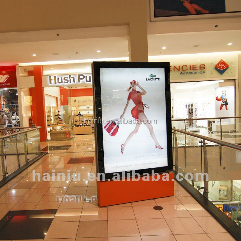 LED backlit scrolling city light posters for shopping mall