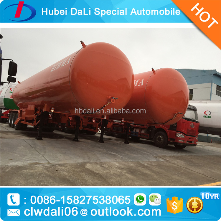 30ft big round gas storage tank with 3 axels chasis
