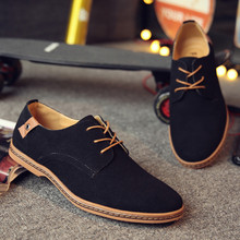 Casual Scrub Men Shoes Business Breathable Shoelace Pure Leather Shoes