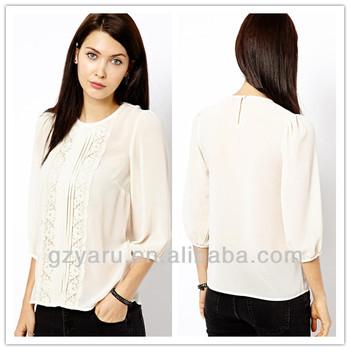 9b9f08b23e66f Black White Long Sleeve Tops Ladies Office Wear For Fat Women - Buy ...