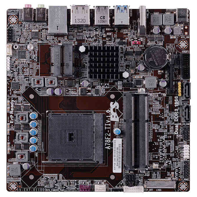 AMD Mini-ITX Motherboard A78F2-TI FM2 A78 Chipset support AMD A series, E Series processor, 100% Solid capacitor