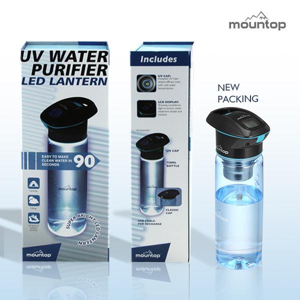 portable water filter bottle. Wholesale Directly Factory Uv Sterilizer Water Bottle Mountop Portable Purifier (750ml) Filter
