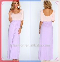 2014 Newest Lavender Peach Two Tone Chic Sexy Evening Dress