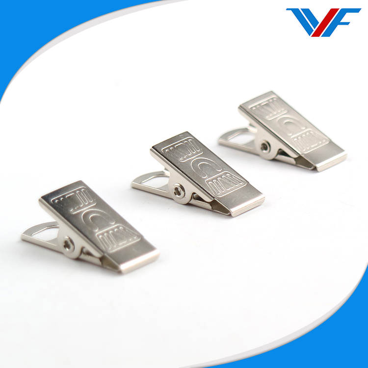 Wholesale ID Card silver metal badge clip
