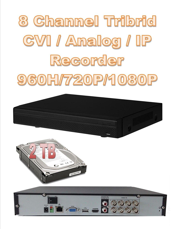 8 CH HD Digital CCTV Security DVR 720P 1080 IP 960H Tribrid HDMI CVI HS-AVS P2P With 2 TB Hard Drive