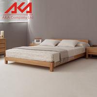 traditional Natural furniture solid oak wood beds bedroom funiture sets