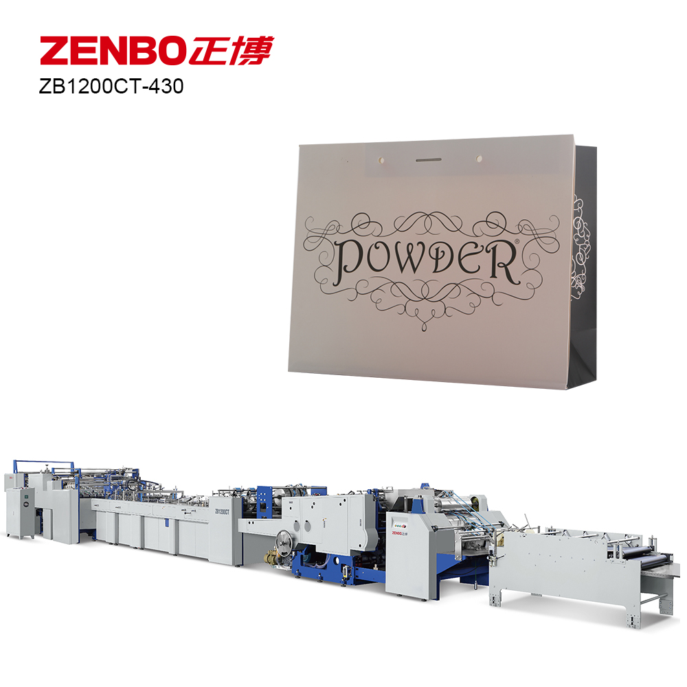 ZB1200CT-430 fully automatic paper bag making machine