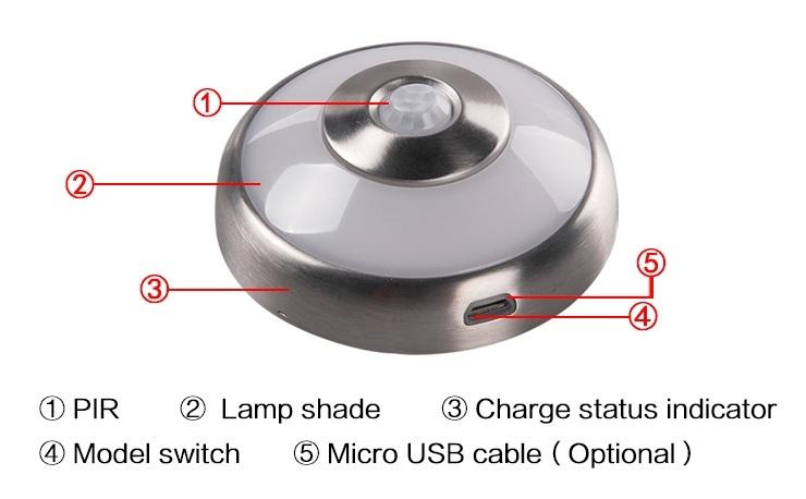 ARTCILUX led puck light rechargeable , rechargeable led light 5v led puck lights , wireless led puck light