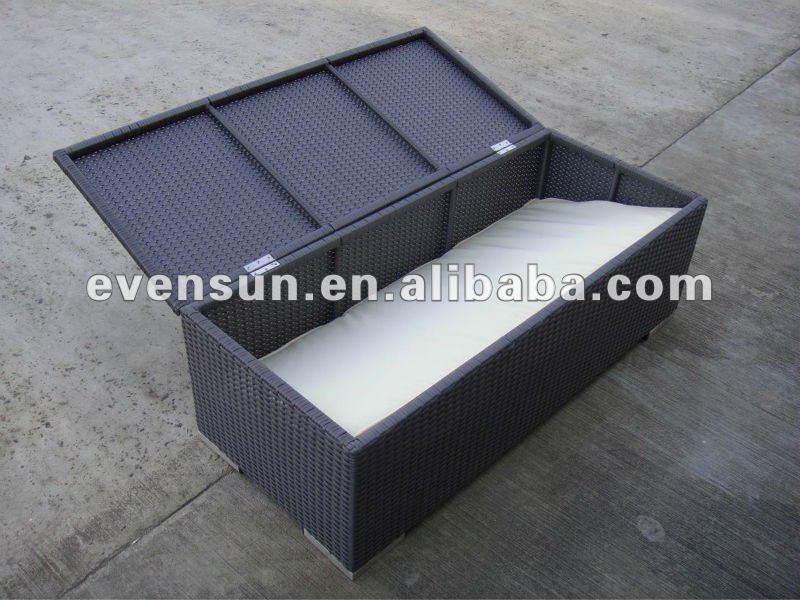 1p Outdoor Synthetic Rattan Wicker Storage Box   Buy Storage Box,Rattan  Storage Cabinet,Outdoor Rattan Cabinet Product On Alibaba.com