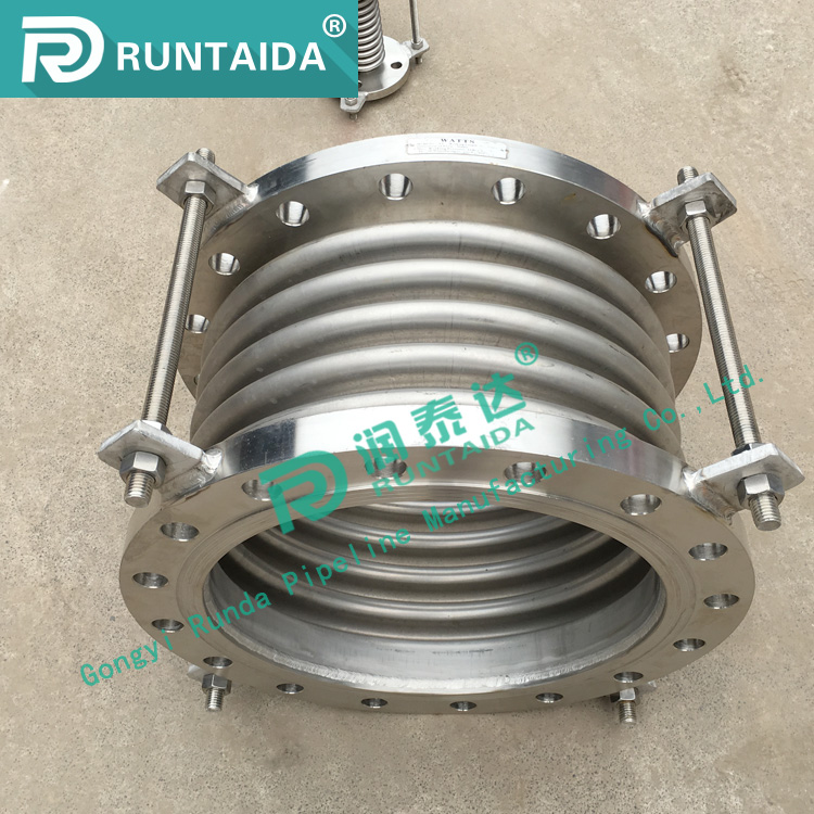 flange end bellows metal expansion joint for pump or compressor