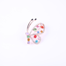 latest rose gold fashion women's butterfly brooch pins design