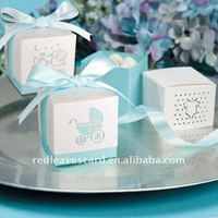 Ribbon Tie White Cardboard Wedding Gift soft box Party Favor boxes