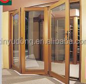 elegant wood clad aluminium sliding folding doors