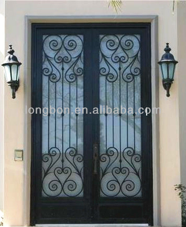 Ornamental Sliding Design Wrought Iron Window Door Grill