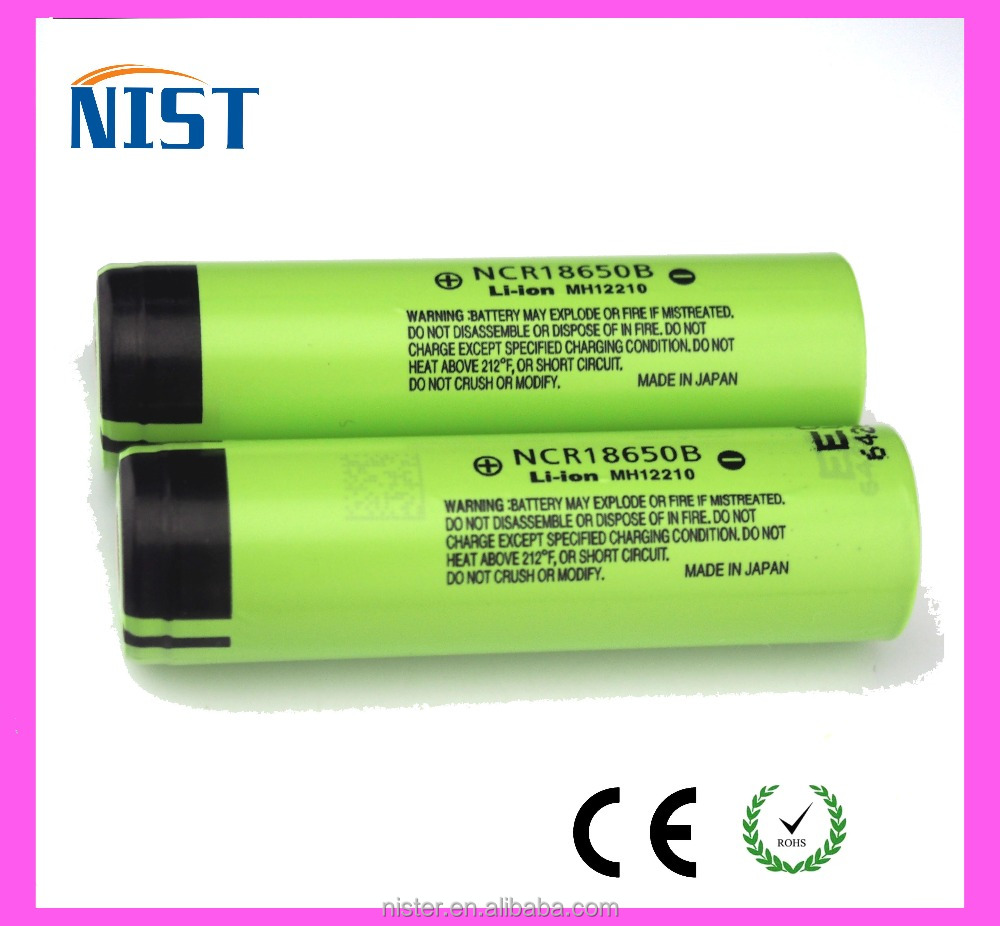 100% Authentic Low MOQ NCR18650B NCR18650B 10A 3400 mah ncr18650 3.7v 18650 li ion battery with rechargeable battery