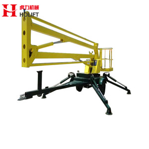 Factory price light lift telescopic boom lift with crank arm