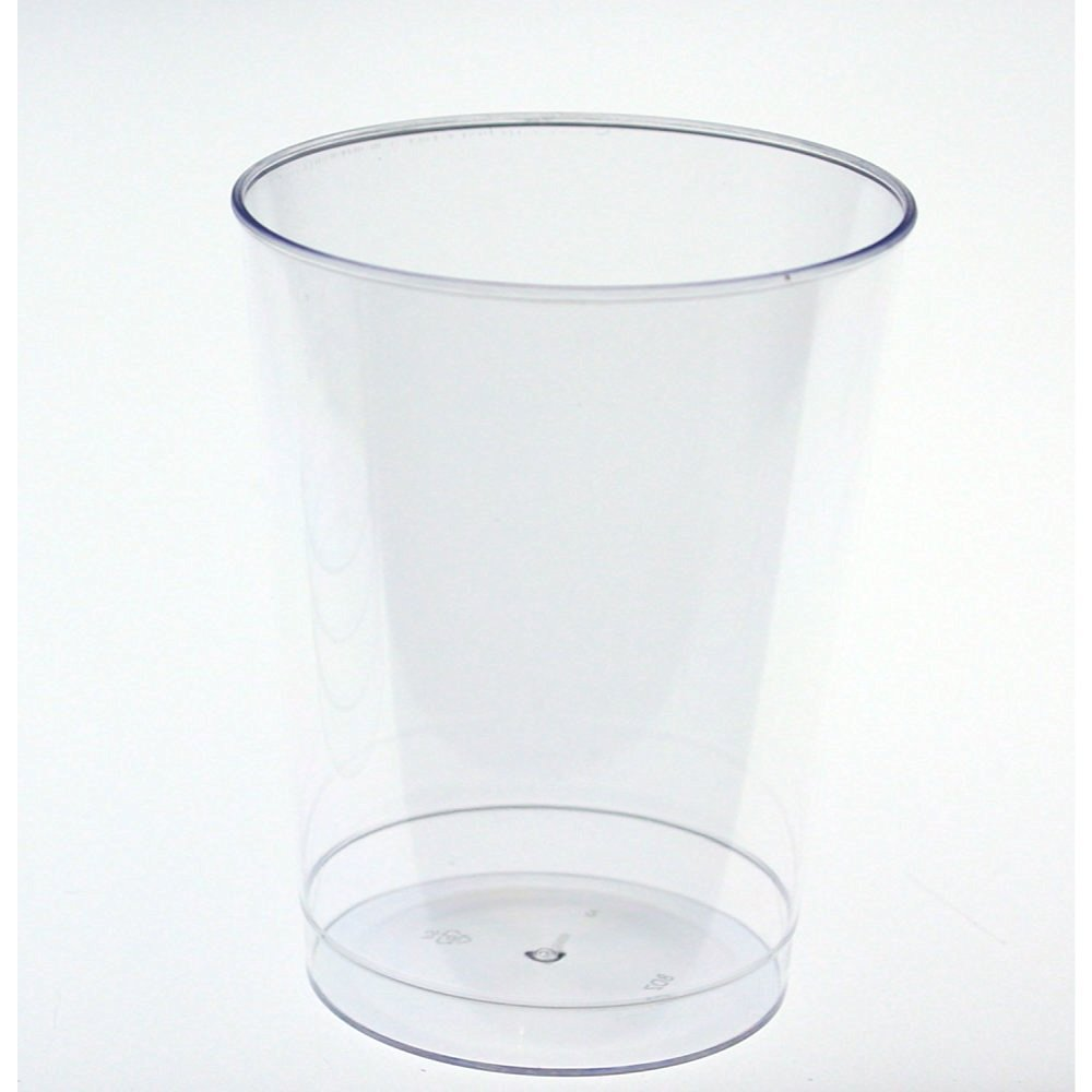 99d82638f35 Get Quotations · Exquisite 500 Count 8 Oz. Elegant Clear Plastic Cups -  Crystle Clear Party Wedding Tumblers