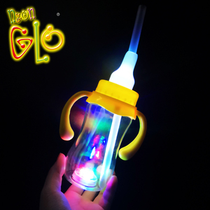 Plastic Flashing Kids Drinking Glasses Light Up Bottle Led Milk Bottle