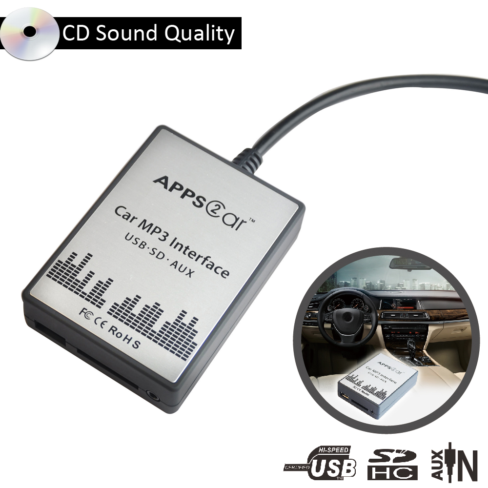 World Tech Automobile Music Changer MP3 Players with usb sd aux,Car Stereo audio adapter For Peugeot Citroen RD4