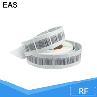 EAS RF Retail security sticker soft tags cheap clothing eas garment custom woven soft labels
