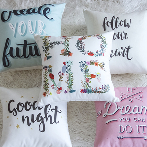 Best selling OEM blank bedroom custom print pillow decorative cushion cover