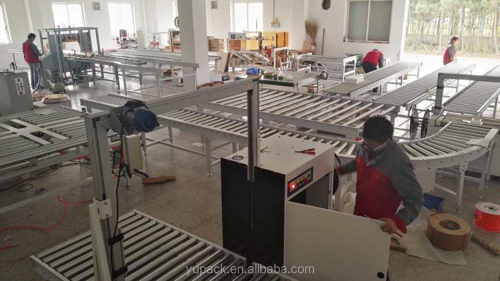 Industrial roller conveyor systems without power/manual roller conveyor